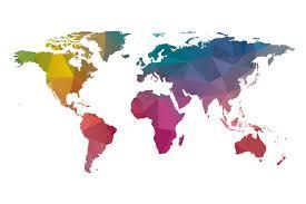 Rwanda World Map by Low Poly World Map Colorful Illustrations Creative Market