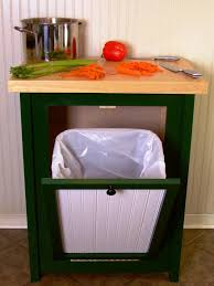 how to build a trash bin with a butcher block countertop how tos