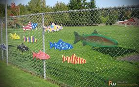 Fence Decorations Chain Link Fence With Fish Or Flowers Or Bees Or Whatever