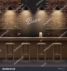 vector bar pub interior brick walls stock vector 645184165
