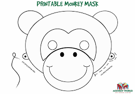 free printable monkey printable printable monkey template