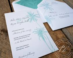 palm tree wedding invitations wedding invitations mad libs guest book by paperblissdesigns