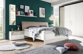 Schlafzimmer Bett Auf Raten Loddenkemper Meo Bett Weiß Husse Taupe Möbel Letz Ihr Online Shop