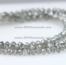 bead diamond necklace images Buy online loose gray drilled faceted diamond beads at wholesale jpg
