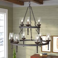 Candle Style Chandelier Loon Peak Rock Springs 9 Light Candle Style Chandelier U0026 Reviews