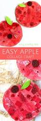 easy apple collage craft crafty kids collage and apples