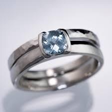 light blue sapphire engagement rings trade green blue sapphire cushion half bezel engagement ring