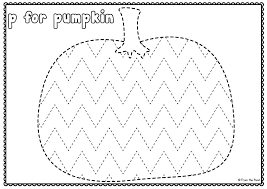 free pumpkin tracing worksheet grafismos pinterest tracing