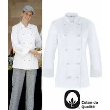 tenue de cuisine homme veste de cuisine femme légèrement cintrée oeilllets d aération