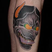 small japanese tattoos masks severed heads etc ade tatu