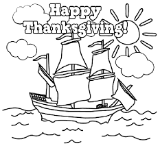 free printable thanksgiving coloring pages for happy