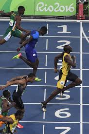usain bolt comes from behind to defeat drug cheat justin gatlin in
