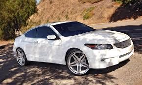 2011 honda accord white white honda accord with machined r 5 wheels lexani wheels in