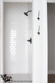 subway tile in bathroom ideas fixer reveal wood grain woods and bath