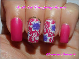 nail art stamping mania layla thermo polish 04 with cheeky jumbo