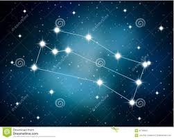 horoscope zodiac sign of the gemini on the astrological space