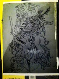 sugar skull tattoo stencil design by hobojay on deviantart