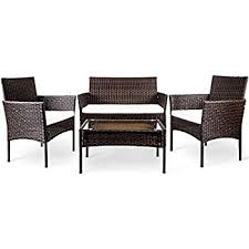 D J Patio Furniture Repair Amazon Com Best Choice Products 4pc Wicker Outdoor Patio
