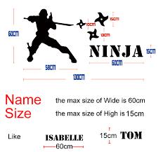 new cool personalized name wall sticker ninja murals customized