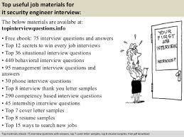 It Security Resume Examples by It Security Engineer Interview Questions