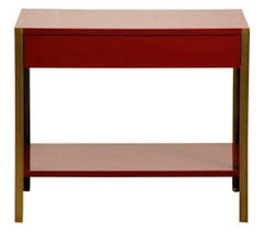 the u0027laque u0027 oxblood lacquer and brass night stand contemporary