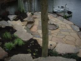 Natural Stone Patio Ideas Natural Stone Landscaping Aching Acres Landscaping