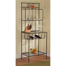 Contemporary Bakers Rack Baker U0027s Rack Black Walmart Com