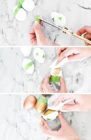 metallic easter eggs diy metallic easter eggs maison de pax