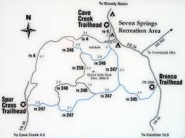 Mt Lemmon Hiking Trails Map Cave Creek Trail 4 U2022 Hiking U2022 Arizona U2022 Hikearizona Com