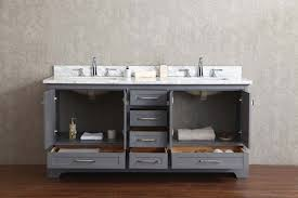 stufurhome newport grey 72 inch double sink bathroom vanity with