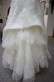 Wedding Dress Bustle His Hers And Ours Diy Wedding Gown Bustle