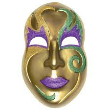mask decorations amscan 21 in mardi gras gold plastic mask 3d decoration 2 pack