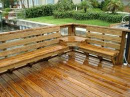 deck with bench seating best 25 deck bench seating ideas on