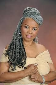 dreadlocks hairstyles for women over 50 natural hair styles with gray hair blackwomennaturalhairstyles