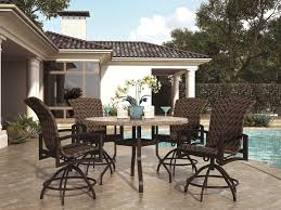 Homecrest Patio Furniture Covers - homecrest havenhill sling aluminum arm swivel rocker counter stool