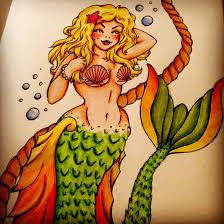 mermaid tattoo design by lex tc on deviantart