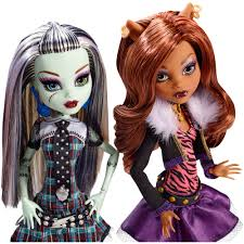 Monster High Doll Halloween Costumes by Monster High Original Dolls 6 Pack Walmart Com