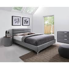 lit chambre adulte lit 160x200 design bois complete led vitara avec blanc blanche
