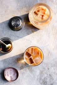 herbal coffee cold brew with maple pink himalayan salt