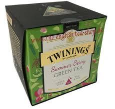 twinings summer berry green tea 15 pyramid bags