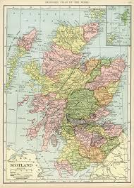 Map Scotland Maps Old Design Shop Blog
