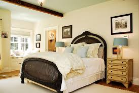 bedrooms traditional style bedroom with white bed and large