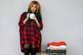 dress the river wolf blogger tights ombre hair flannel shirt