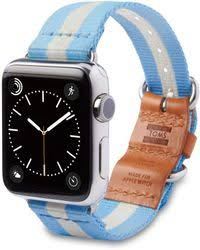 apple watch light blue lyst toms for apple watch band utility 38mm light blue stripe in blue