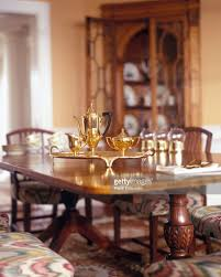 Traditional Dining Room Furniture Brass Tea Set On Traditional Dining Room Table Stock Photo Getty