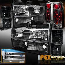 1998 chevy silverado tail lights 94 98 chevy c10 1500 2500 3500 silverado 10pc black headlight
