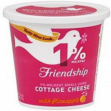 Nutrition Facts For Cottage Cheese by 1 Milk Fat Cottage Cheese With Pineapple 16 Oz