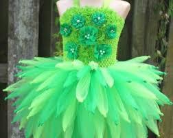 Green Tutu Halloween Costume Adorable Tinkerbell Costume Tutu Dress Wings Headband
