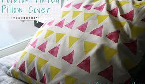 How To Make Sofa Pillow Covers How To Make A Printed Pillow Cover