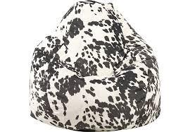 big joe teardrop black cow bean bag chair seating